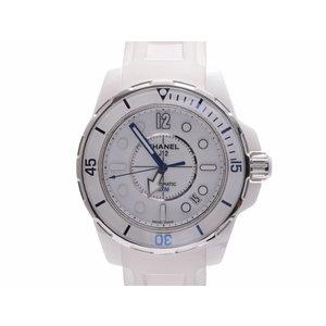 中古 シャネル J12 マリーン38 H2560 白セラミック/ラバー 白文字盤 自動巻 メンズ 腕時計 CHANEL◇