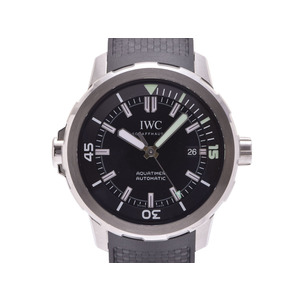 Used Iwc Aqua Timer Iw 329001 Ss / Rubber Black Letter Board Gala Self-winding Wristwatch Men ◇