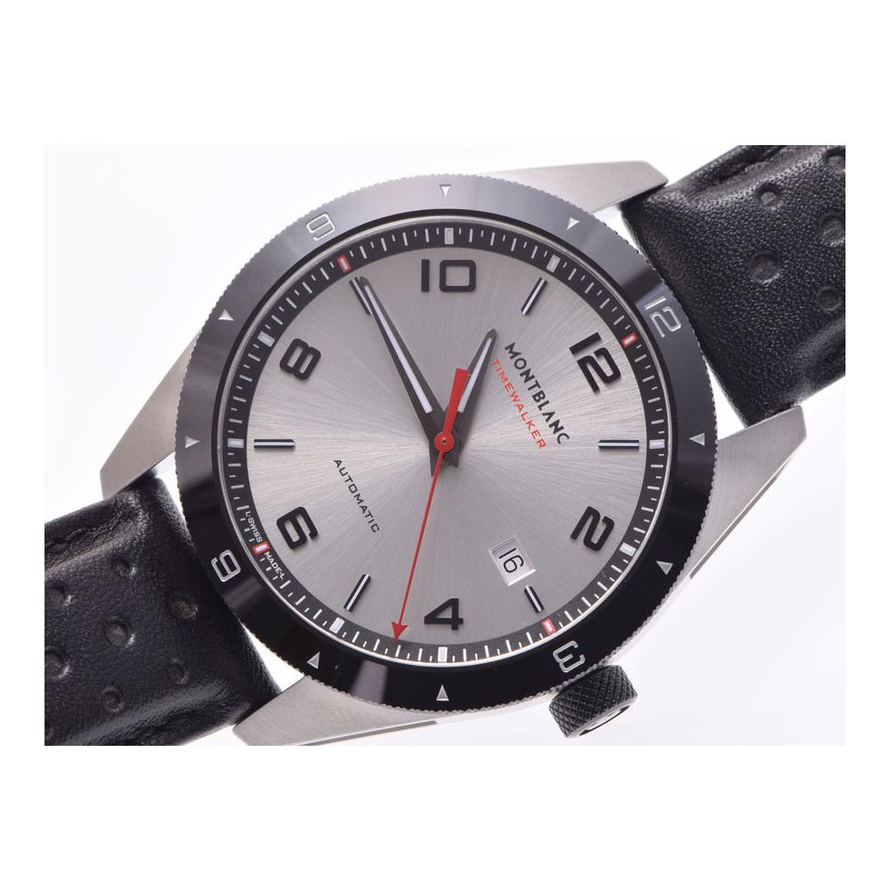 新品 モンブラン 116058 タイムウォーカー デイト 黒ラバー/SS 裏スケ 箱 ギャラ 自動巻 腕時計 メンズ MONTBLANC◇