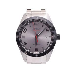 新品 モンブラン 116057 タイムウォーカー デイト 黒ラバー/SS 裏スケ 箱 ギャラ 自動巻 腕時計 メンズ MONTBLANC◇