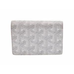 Used Goyard Card Case Malzerb Pvc White ◇