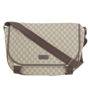 Gucci Gucci Pvc Messenger Bag Beige Brown 201725 204990