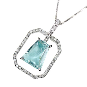 K18 Paraiba Tourmaline 2.909ct Diamond 0.43ct Necklace