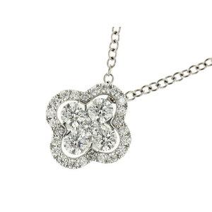 K18 Platinum Pt 900 Diamond 0.237 Cc 0.234 0.240 0.45 Ct Necklace