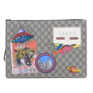 Gucci Gucci Gg Supreme Clutch Shoulder Bag 474083