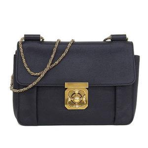 Chloe Chloé Elcy Chain Shoulder Bag Black