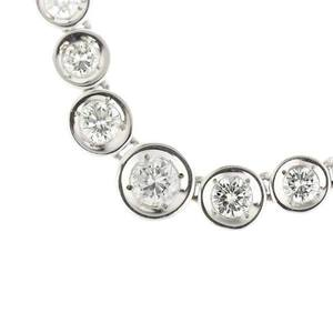 Platinum Pt 850 Diamond 0.22ct / 0.91ct Necklace 25.5g