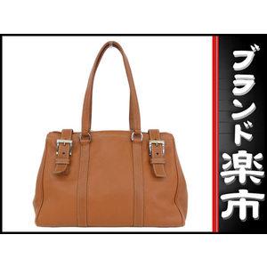 Prada Prada Leather Tote Bag Brown