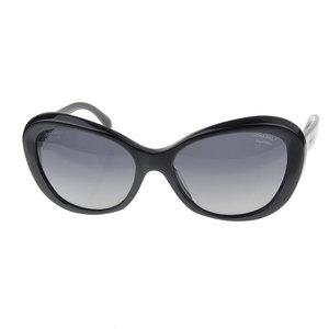 Chanel Chanel Camellia Sunglasses Black 57 □ 17 5246