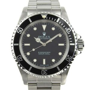 Rolex Rolex Submariner Non Date Automatic Watch 14060 U Series Toritium Polished