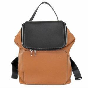 Loewe Loewe Goya Backpack 2way Leather Brown Black Bag