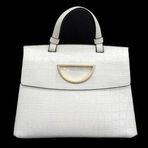 Samantha Thavasa Samantha Embossed Leather 2 Way Hand Shoulder Bag Off White