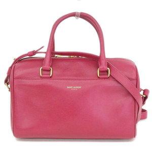 Yves Saint - Laurent Yves Paris Baby Duffle 2 Way Hand Shoulder Pink Bag