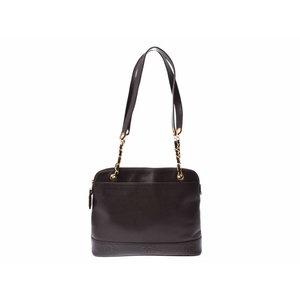 30d19b8080bc Used Chanel Shoulder Bag Caviar Skin Brown G Hardware ◇