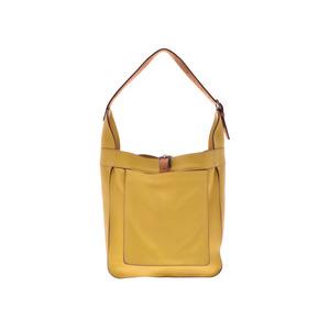 Used Hermes Marwaliy Pm Triyon Clemence Yellow □ M Engraved Shoulder Bag ◇
