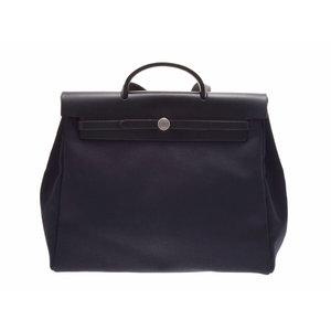 Used Hermès Ale Bag Mm Black □ G Engraved Hermes ◇