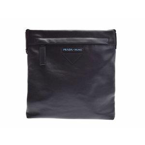 プラダ(Prada) 新品 プラダ ショルダーバッグ レザー 黒 2VH055 ギャラ PRADA◇