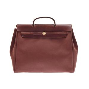 Used Hermes Ale Bag Mm Towel Ash Tea □ E ◇