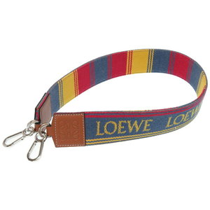 Loewe Striped Strap Shoulder Denim / Cotton Calf Multi Color 0170loewe