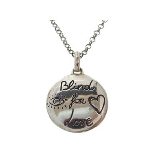 Gucci Blind For Love Necklace Silver 925 Accessories 0169 Men's