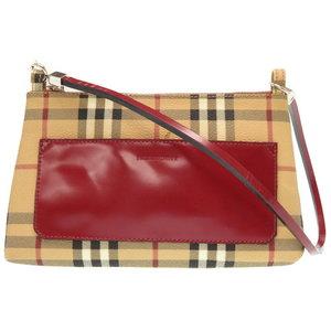 Burberry London Italian Made Shoulder Pouch Bag Pvc Check 0329