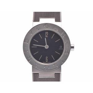中古 ブルガリ ブルガリブルガリ BB23SS SS 黒文字盤 クオーツ 腕時計 レディース BVLGARI◇