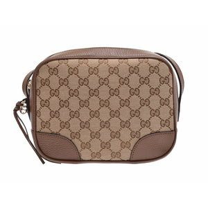 Used Gucci Shoulder Bag Gg Pattern Canvas / Calf Brown Outlet New Same ◇