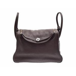 Used Hermès Lindy 34 Triillon Clemence Chocolat Sv Metal Fitting □ L Engraved 2 Way Bag Hermes ◇