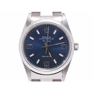 中古 ロレックス エアキング 14000M SS P番 ブルー文字盤 箱 ギャラ メンズ レディース 腕時計 ROLEX◇