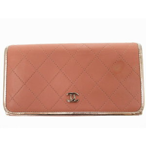Chanel Matrasse Wallet Pink Coco Mark 22nd Accessory 0108