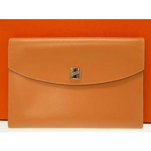 Hermes Cadena Clutch Second Bag Box Calf 0200 As New
