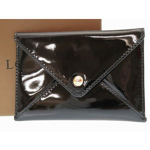 Loewe Card Case Coin Patent Leather Black 0173 As New
