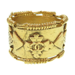 Beauty Item Chanel Coco Mark Vintage Bangle Metal Gold Accessory 0075