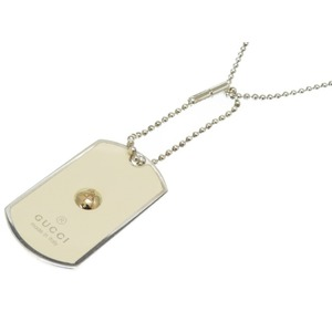 Gucci Grammy Award Special Edition K18yg × Silver Dog Tag Necklace Accessory 0118 Men's