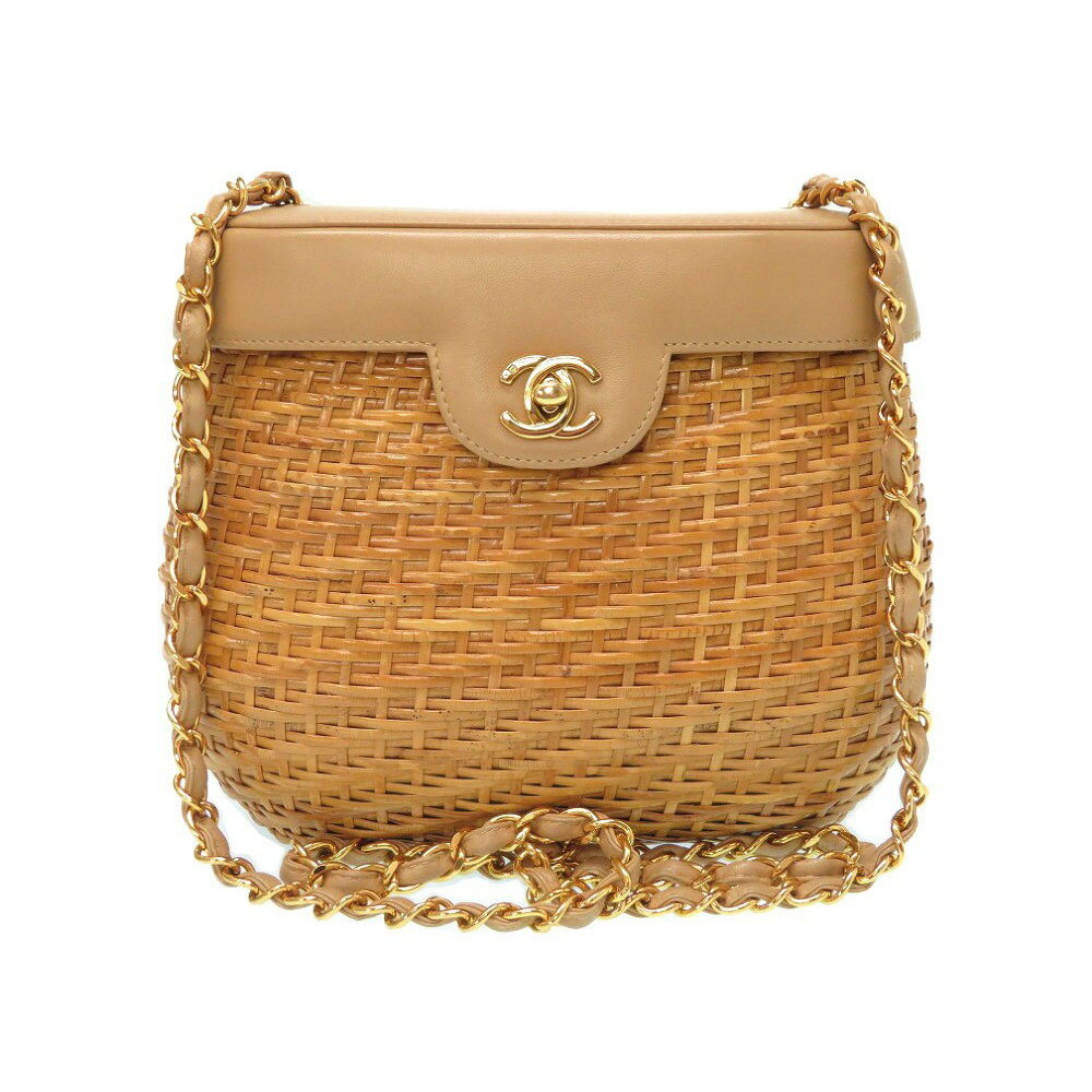 5afe081d965c Chanel Women's Straw Shoulder Bag Beige