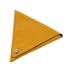 Mortgage Loewe Triangle Coin Case Yellow Leather Purses 0283