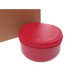 Miu Louis Vuitton Epi Ekran Bijou 10 M48217 Castillean Red Jewelry Case Lv 0601