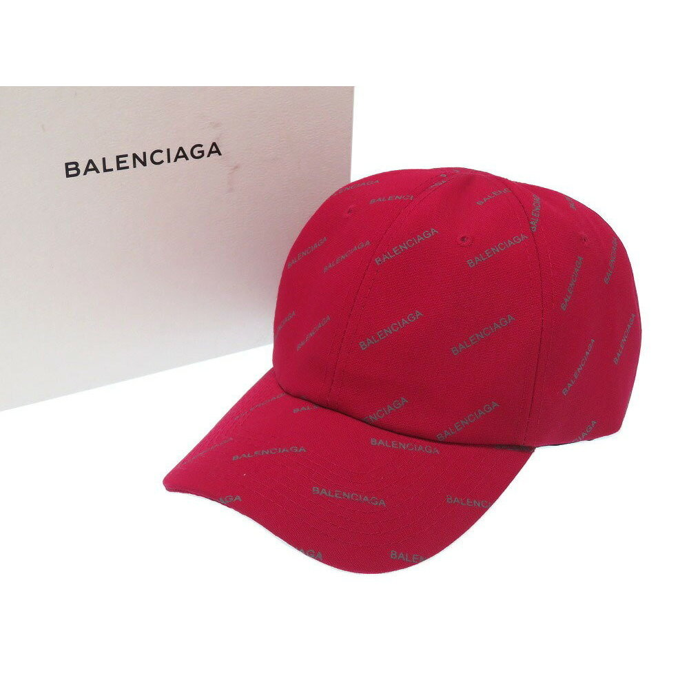 c8f99512 Balenciaga Jacquard Canvas Red Cap Hat As Brand New 0011 | eLady.com