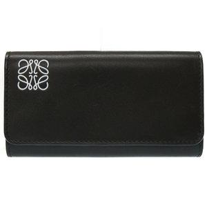 Unused Loewe 6 Sequential Key Case Leather Black 109.54.k92 0314 Men's