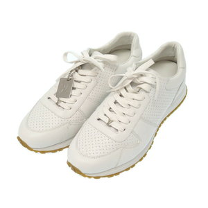 Unused Louis Vuitton × Supreme Runaway 7 1/2 White Leather 2017 Aw Sneakers 1a3 Epo Shoes Men's Lv 0078