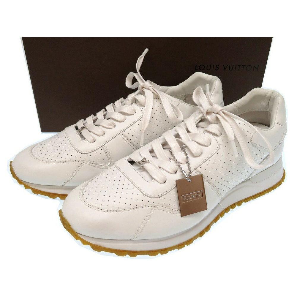 e53257cc111 Unused Louis Vuitton Supreme Runaway Sneaker White 0332 × | eLady.com