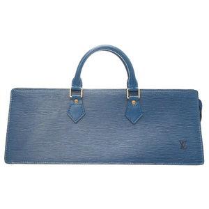 Miu Louis Vuitton Sack Triangle M52095 Epi Blue Handbag Bag Lv 0107