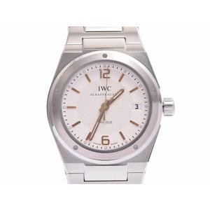 中古 IWC インヂュニア IW322801 SS 白文字盤 裏スケ 箱 ギャラ 自動巻 腕時計 メンズ◇