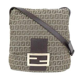 Fendi Fendi Zuccino Shoulder Bag Tea