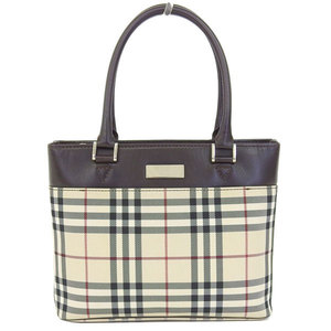 Burberry Handbag Beige,Dark Brown