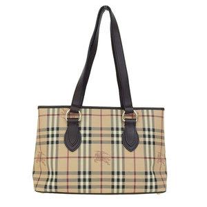 Burberry PVC Tote Bag Beige,Dark Brown