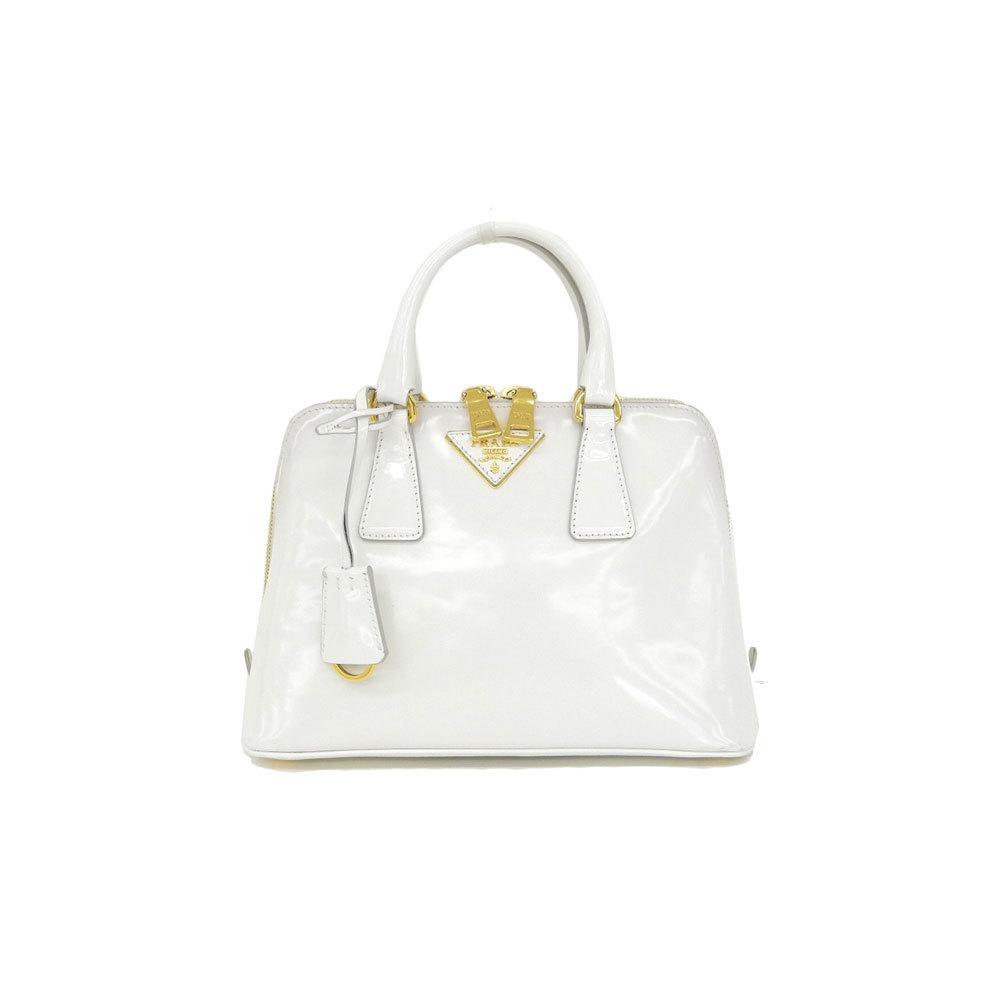 cc9452a95c05 ... where can i buy prada prada enamel 2way handbag shoulder white gold  hardware bl0838 bag 900ef