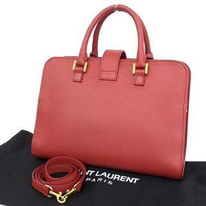 Saint Laurent Saint Paris Cavus 2way Handbag Shoulder Red Bag