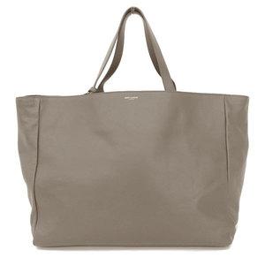 Saint Laurent Saint Paris Reversible Tote Bag Gray Calf Leather Gold Hardware