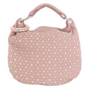 Jimmy Choo Jimmy Chu Star Studs Shoulder Bag Pink Silver Hardware